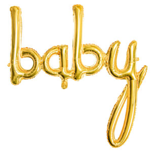 Baby Guld Folieballong