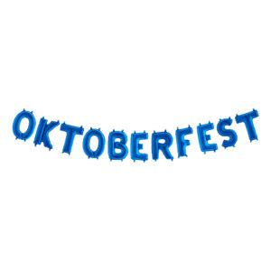 Ballonggirlang Oktoberfest Blå Metallic