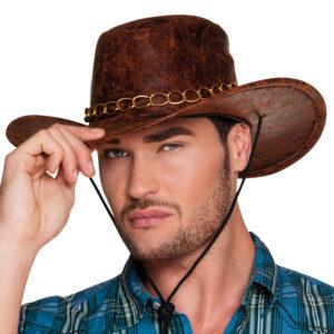 Cowboyhatt Fejkläder Brun