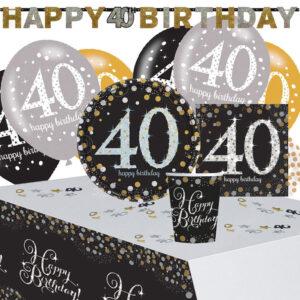 40-års Kalas Sparkling Celebration Kit 8 Pers