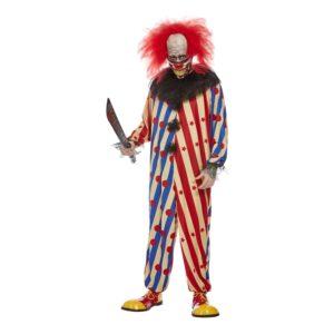 Clown Halloween Maskeraddräkt - X-Large