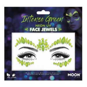 Face Jewels UV Neon Grön