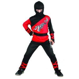 Ninja maskeraddräkt barn 120-130