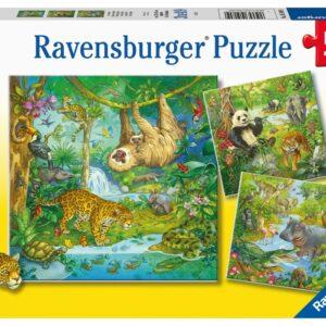 Ravensburger I djungeln Pussel (3x49-bitar)