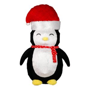 Uppblåsbar Pingvin med Tomteluva